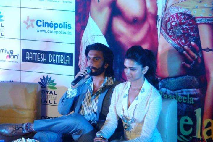 Deepika Padukone Amp Ranveer Singh Promote Their Movie Ram