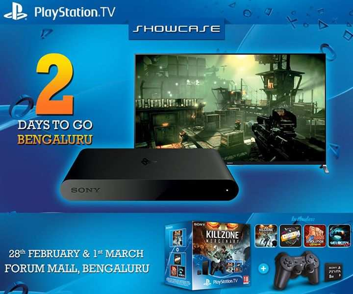 Sony PlayStation TV product launch showcase at Forum Mall Bangalore