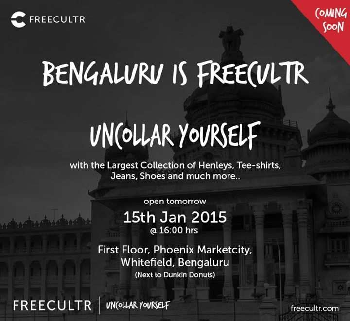 Freecultr stores outlets restaurants in phoenix market city events in bangalore the freecultr store launch at phoenix marketcity bangalore on 15 january 2015 solutioingenieria Gallery