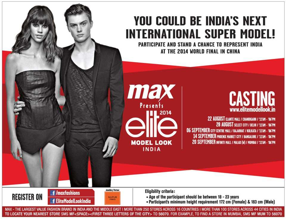 Max Presents Elite Model Look India 2014 Casting On 14 September 2014 At Phoenix Marketcity
