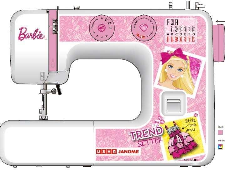 USHA Launches India's Firstever Barbie Sewing Machine News Classy Usha Sewing Machine Bangalore