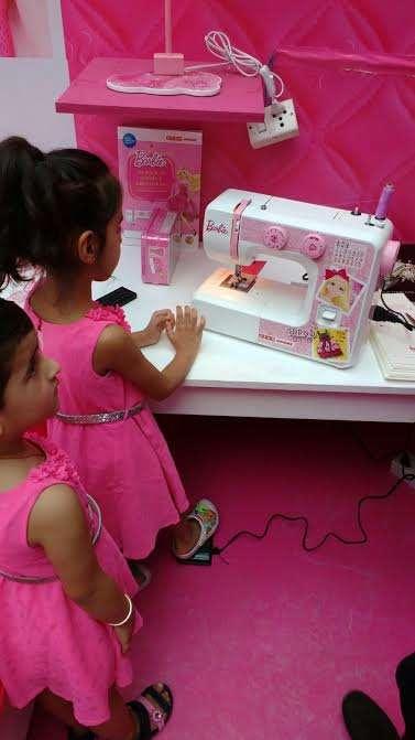 USHA Launches India's Firstever Barbie Sewing Machine News Inspiration Usha Sewing Machine Bangalore