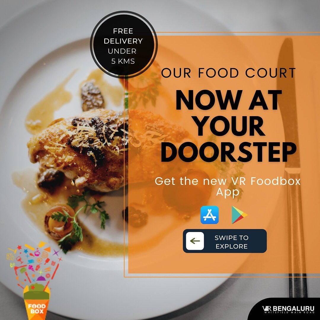 Your Favourite Restaurants at VR Bengaluru Now at Your Doorstep