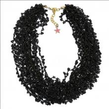 Clustered Beaded Necklace in Black - Ayesha Halloween Offers
