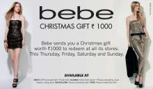 Bebe Christmas Gift - Rs.1000 voucher to be redeemed at all bebe stores between 6 to 9 December 2012
