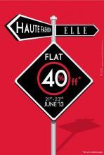 ELLE Fashionwear Sale, ELLE Sale, Flat 40% off at ELLE from 21 to 23 June 2013 at ELLE Boutiques