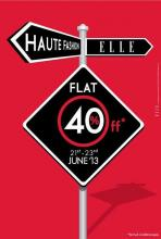ELLE Fashionwear Sale, ELLE Sale, Flat 40% off at ELLE from 21 to 23 June 2013 at ELLE Boutiques