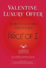 Valentine Luxury Offer in select HIDESIGN stores in Bangalore from 9 to 28 Feb 2013
