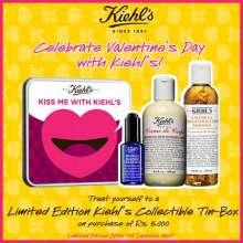 This Valentine's day, let Kiehl's treat you with a little extra love! On purchase of products worth Rs 5000 or more, get a limited edition Kiehl's collectible tin-box.