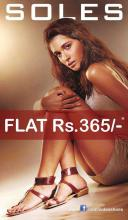 Soles Flat Rs.365 Sale is back only at Forum Value Mall & Ascendas Park Square Whitefield
