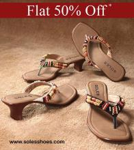 Flat 50% off Sale at Select Soles Shoes stores in Bangalore