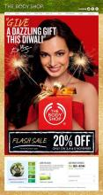 Give a dazzling gift this Diwali. Flash Sale - 20% off offer valid from 3 to 5 November 2012 at all Body Shop stores.