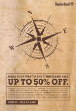 Make your way to the Timberland Sale - Upto 50% off from 29 June to 29 July 2012.