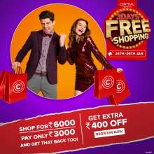 Central Presents 3 Days Free Shopping  24th - 26th January 2020