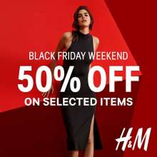 #HMBlackFriday Weekend - Get 50% off on selected items
