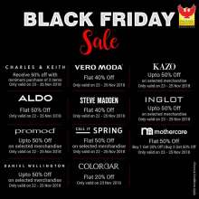 Black Friday Sale at Phoenix Marketcity Bangalore  22nd - 26th November 2018
