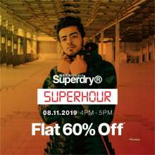 Superdry Superhour - Flat 60% off  8th November 2019