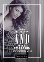 For the 3rd time in a row AND has bagged the Best Ladies Western Wear Award at the Shoppers Stop Pinnacle Awards 2012