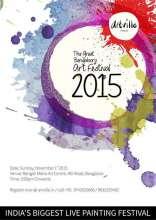 The Great Bengalooru Art Festival at Rangoli Metro Art Centre on 1 November 2015