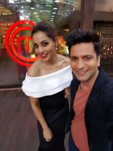 Bipasha Basu with chef Kunal Kapur